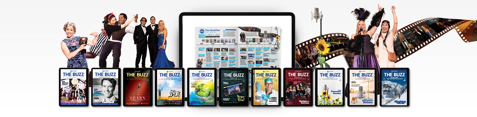 The Buzz Interactive Magazine Header